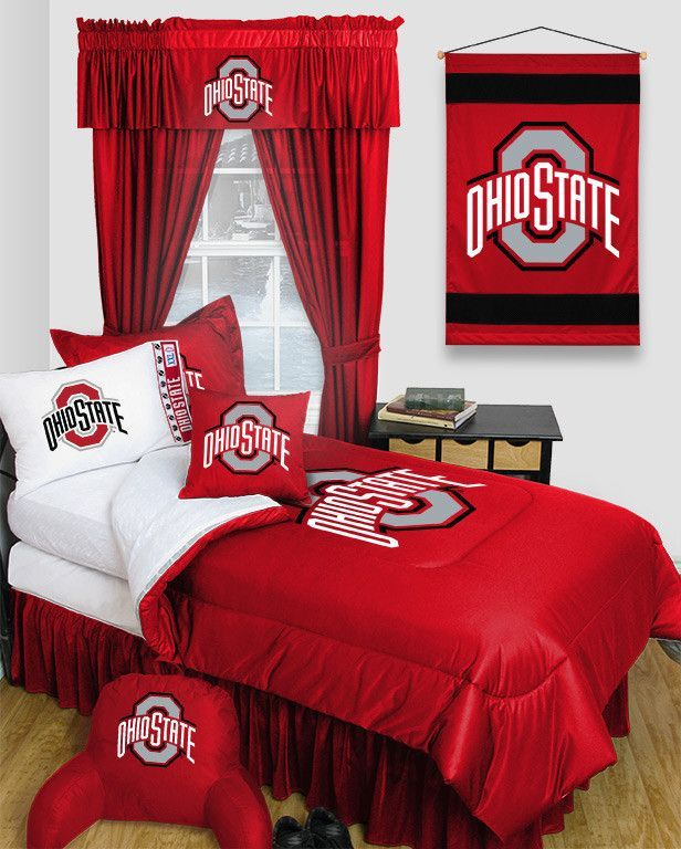 Awesome Ohio State Buckeyes Locker Room 6pc Twin Bed Set