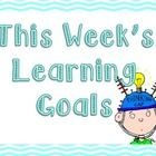 This is simply a poster that you can utilize to post your learning goals by subject for the week. Bright, fun and easy for students to find!...
