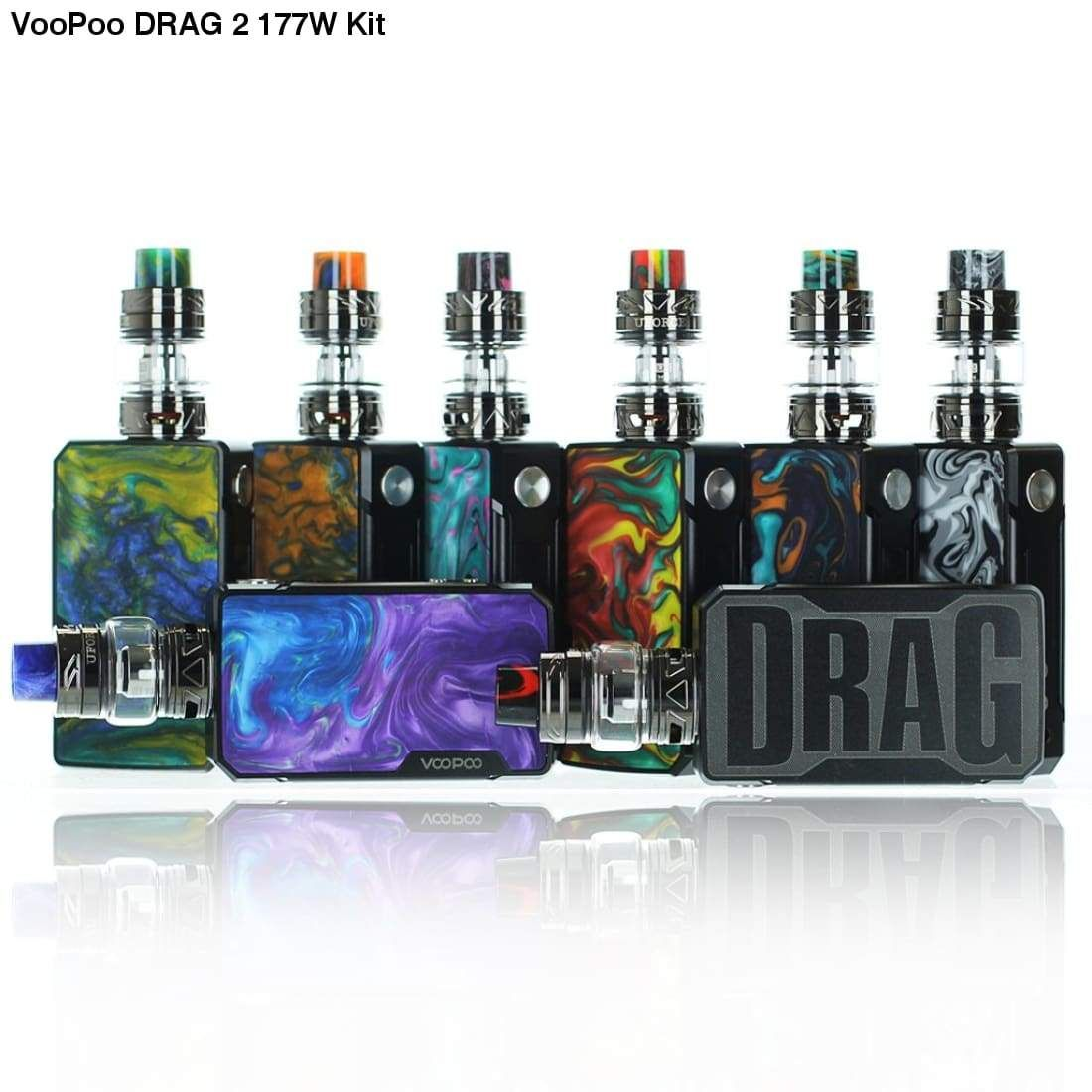 VOOPOO Drag 2 Kit 177W with Uforce T2 Tank   Kit, 18650