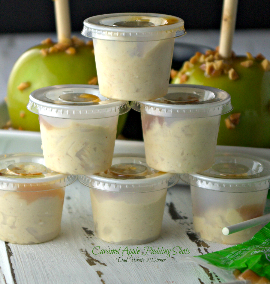 Apple Pie Alcoholic Drink: Caramel Apple Pudding Shots
