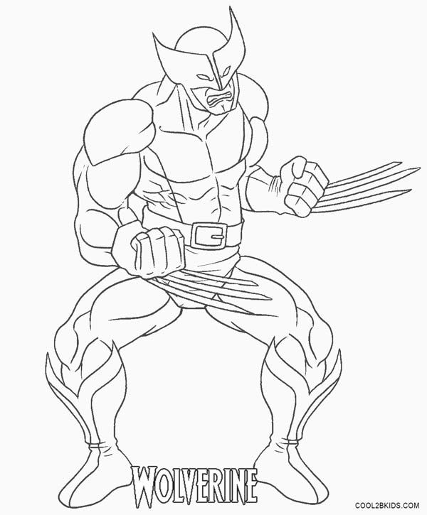 wolverine coloring pages  cartoon coloring pages