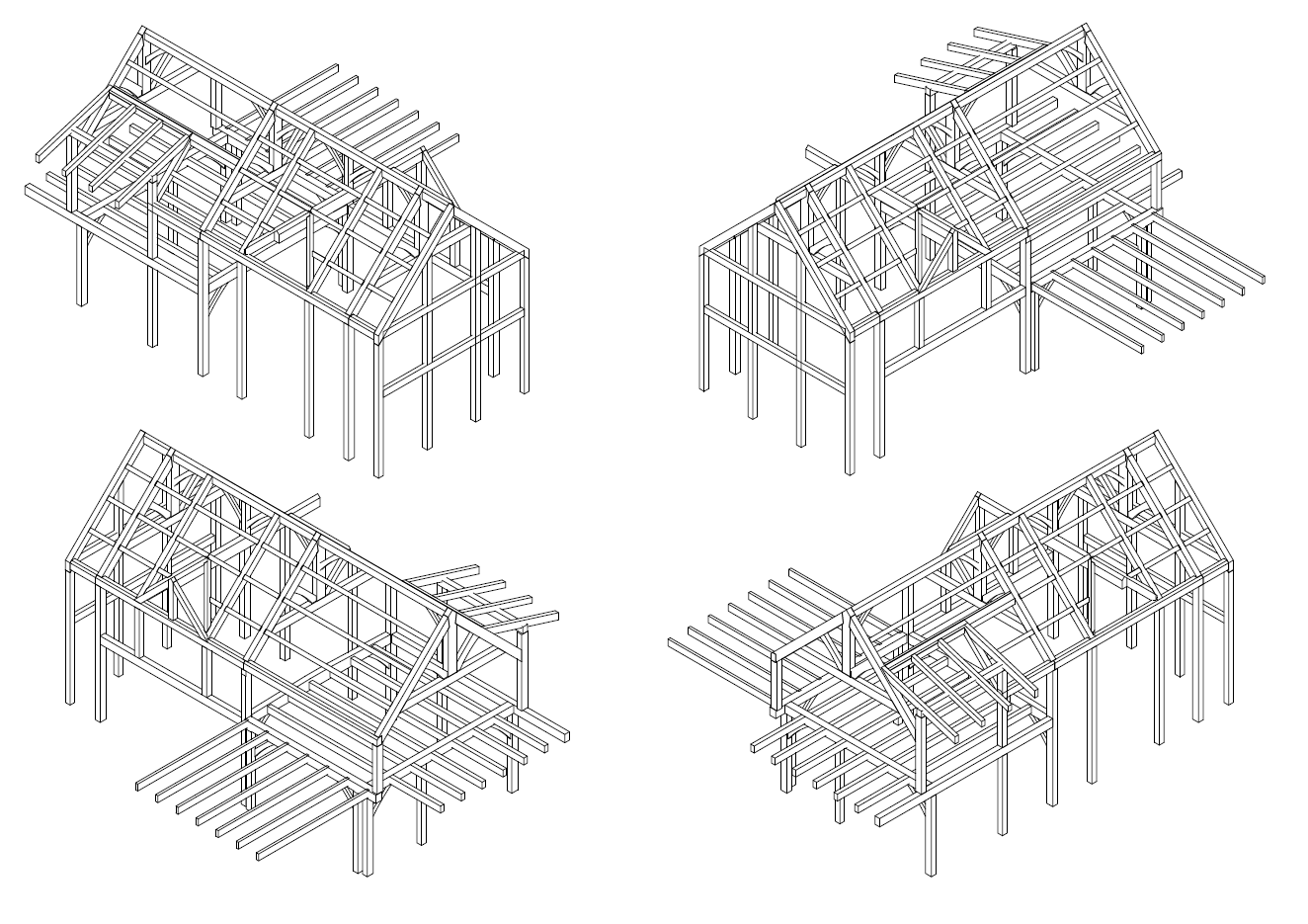 Timber Frame Isometric Construction Plans | Construction drawings ...