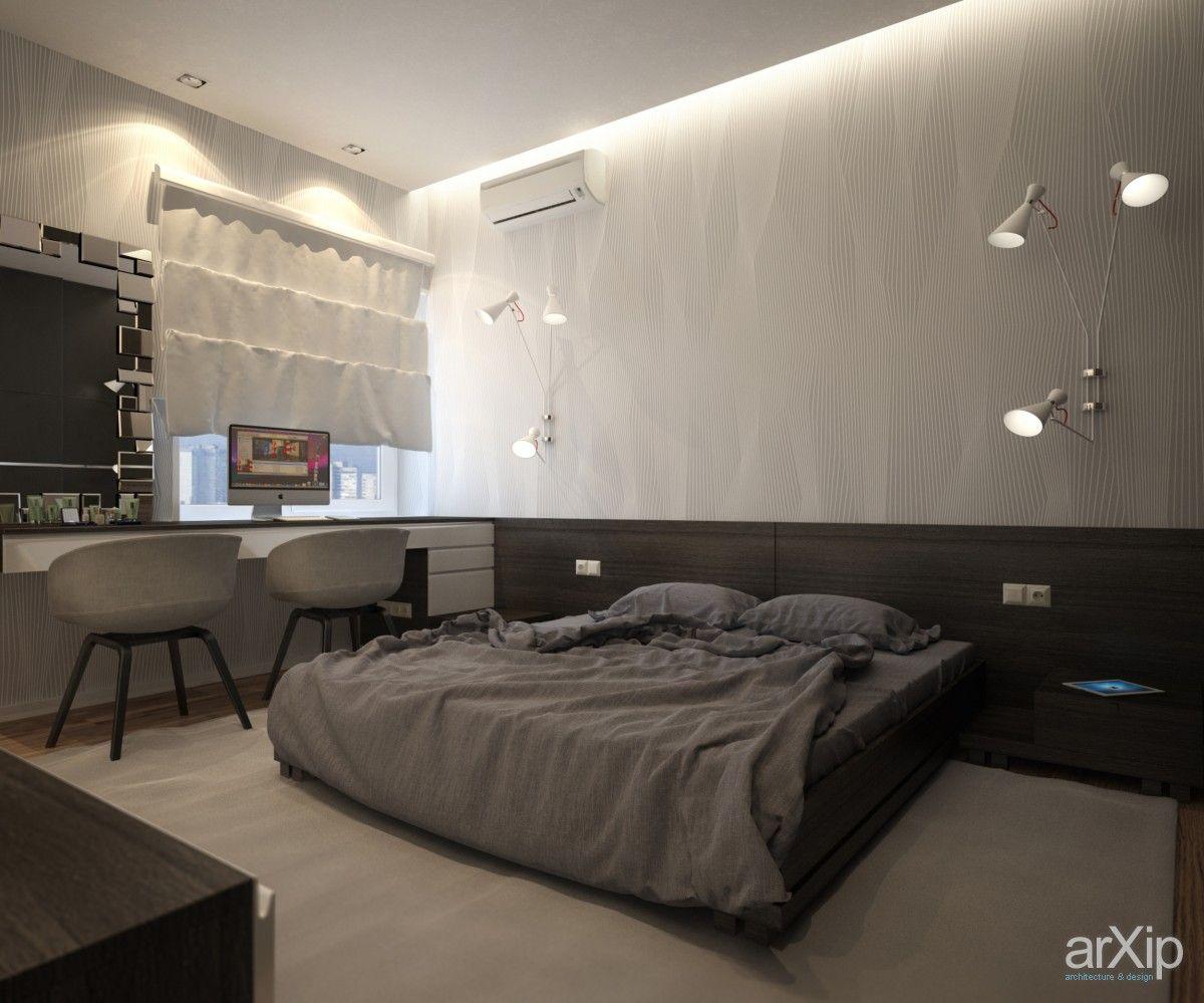 Дизайн интерьера квартиры в г. Москва: интерьер, зd визуализация, квартира, дом, спальня, современный, модернизм, 10 - 20 м2, интерьер #interiordesign #3dvisualization #apartment #house #bedroom #dormitory #bedchamber #dorm #roost #modern #10_20m2 #interior arXip.com