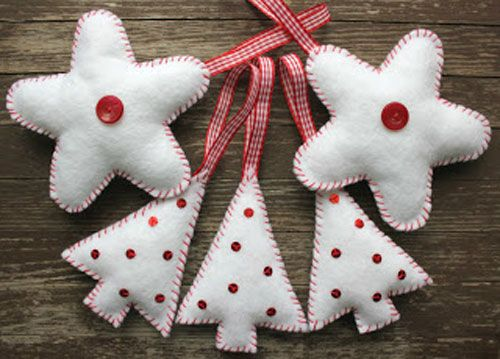 adornos arbol navidad fieltro patrones