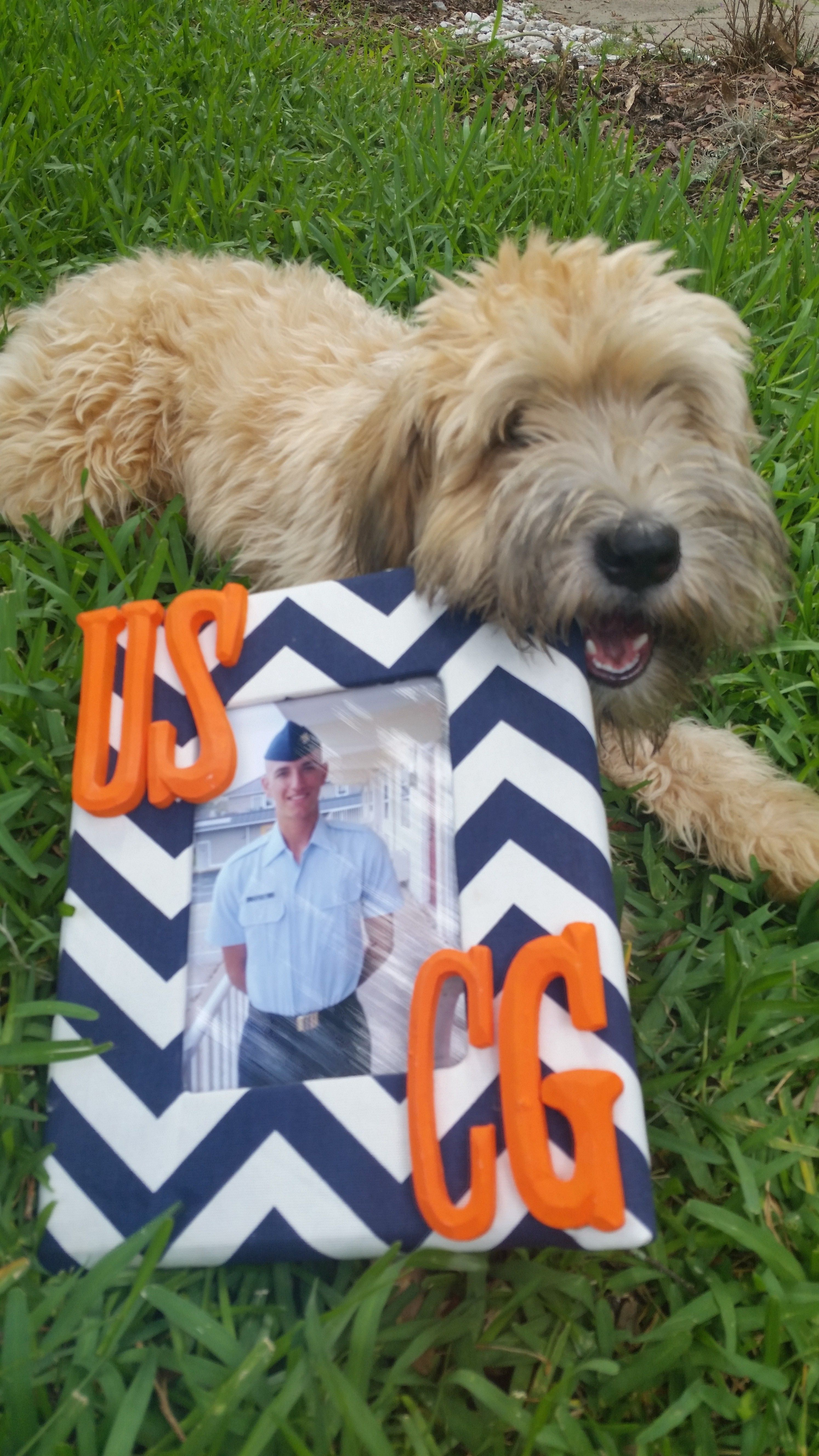 Coast Guard picture frame! unfinished wooden frame 5x7 from ...
