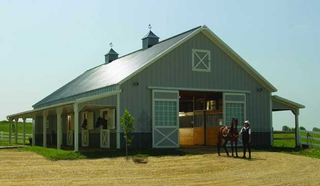 Barn designs horse barn design construction types and for Horse barn styles
