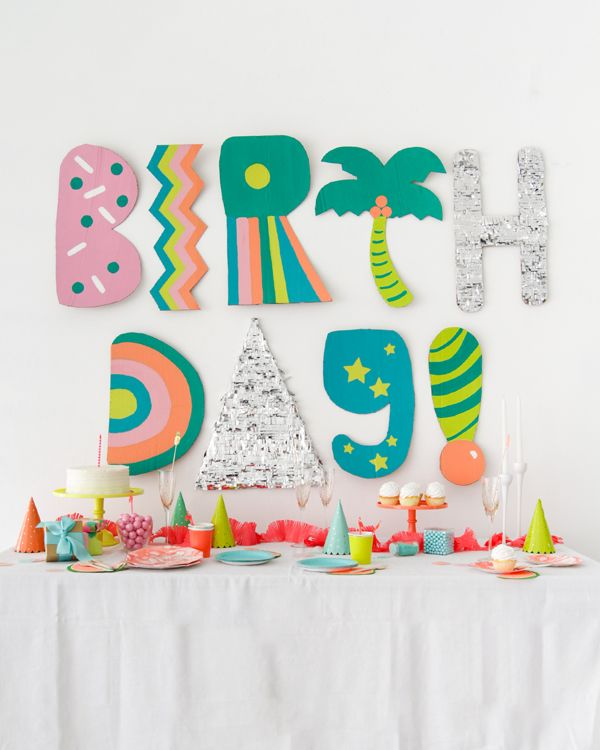 Will Your Child S Next Birthday Party Bust Your Budget: Giant Cardboard Letter Installation