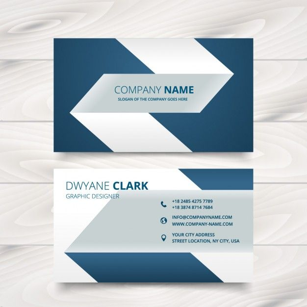creative simple business card design Free Vector | Free Business ...