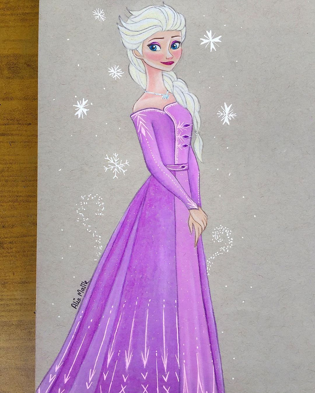 Alia Arts On Instagram Here Is Another Frozen2 Drawing I Am Totally In Elsa Mood Love Her Purple Dress Love All The Elsa Outfit Elsa Outfit Drawings Art
