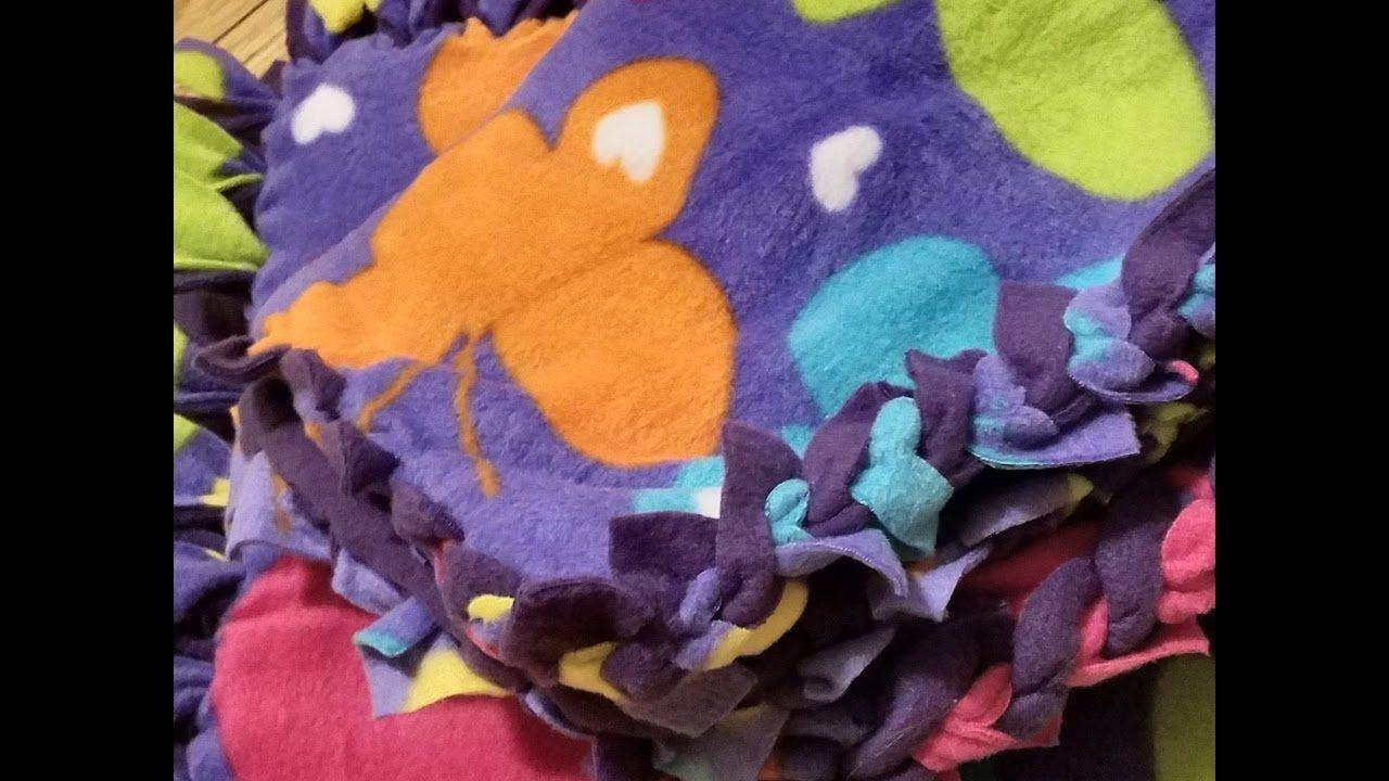 New Sew Fleece Blankets YouTube Fleece blanket edging