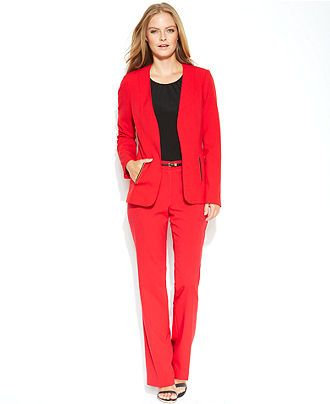 Macy S Red Pantsuit