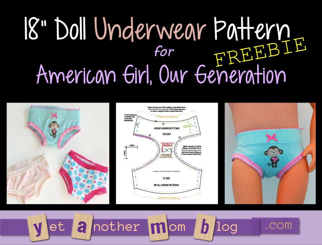 Our Generation/American Girl undies/bikini bottoms pattern freebie