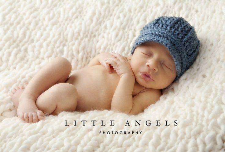 Loom Knit Baby Boy Hats Newsboy Photos