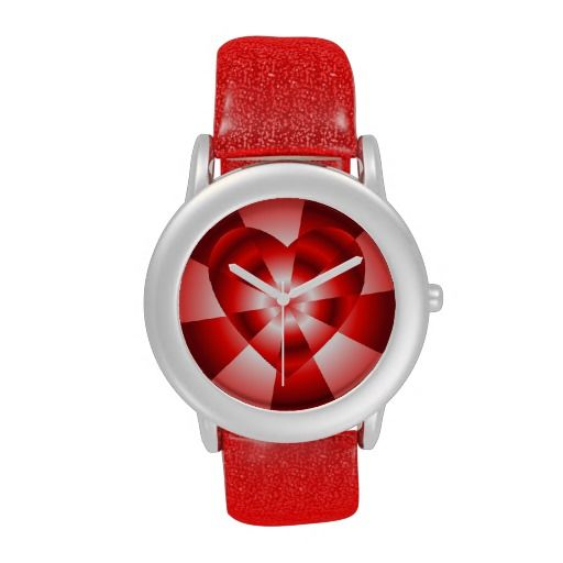 FOR SALE! WATCHES! ....Love in Disguise - Red Radiance Wristwatch     .....#clocks #time #watches #jewelry #love #hearts #StValentinesDay #Red #RoseSantuciSofranko #Artists4God #Artist4God #art #Zazzle