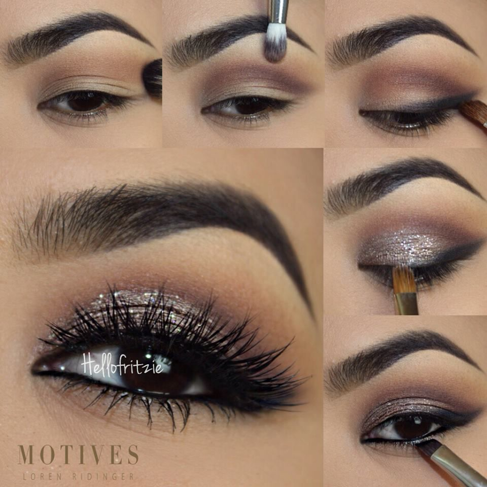 A Little Shimmer Goes A Long Way With This Eye Shadow Look By Hellofritzie Black Dress Makeup Eye Makeup Black Makeup [ 960 x 960 Pixel ]