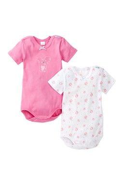 Short Sleeve Mouse Bodysuit - Set of 2 (Baby Girls)