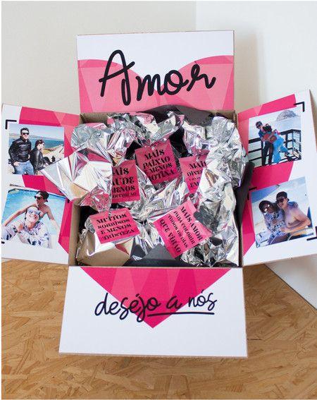 Caixa Personalizada Surpresas Para Namorado Aniversario Caixa
