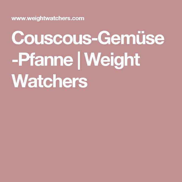 Couscous-Gemüse-Pfanne | Weight Watchers