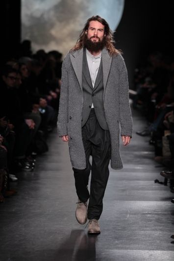 Paul Smith a/w 2011 grey knitted coat