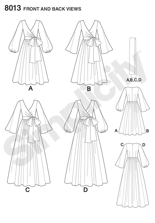 s8013 misses vintage 1970s dresses sewing projects pinterest 1970 Inspired Wedding s8013 misses vintage 1970s dresses