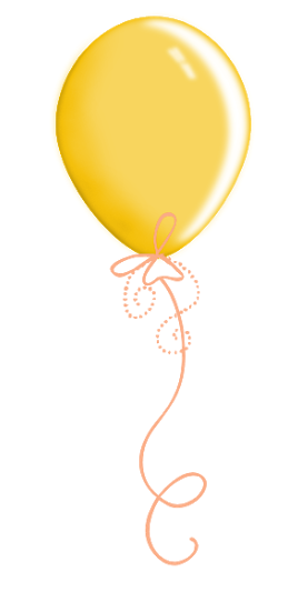 Balloons yellow. Balloon party celebration clipart