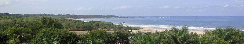 Panorámica de playa Grande en el Parque Nacional Marino Las Baulas.  -Costa Rica-