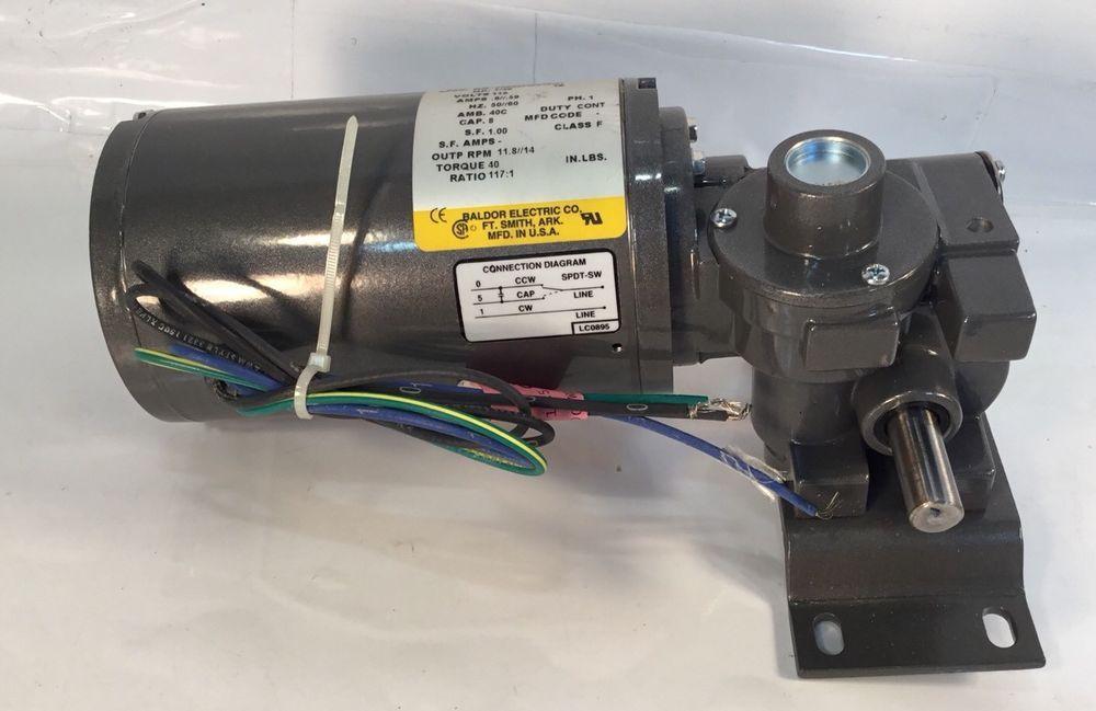 baldor gc24208 1/4 hp ac right angle gearmotor, gear motor #baldor
