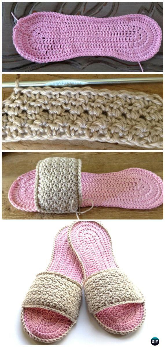 Crochet Women Slippers Free Patterns | Zapatillas, Ganchillo y Tejido