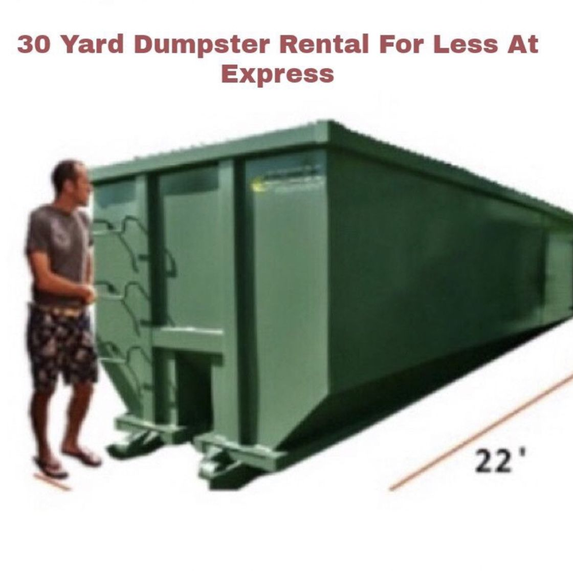 30 Yard Construction Roll Off Dumpster Rental Save Up To 75 On Short Term Rentals Contractor Contractors Residentia Dumpster Rental Roll Off Dumpster Palm Bay Florida