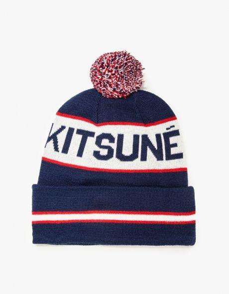 Maison Kitsune   Supporter Hat in Navy  ca3786b158f1