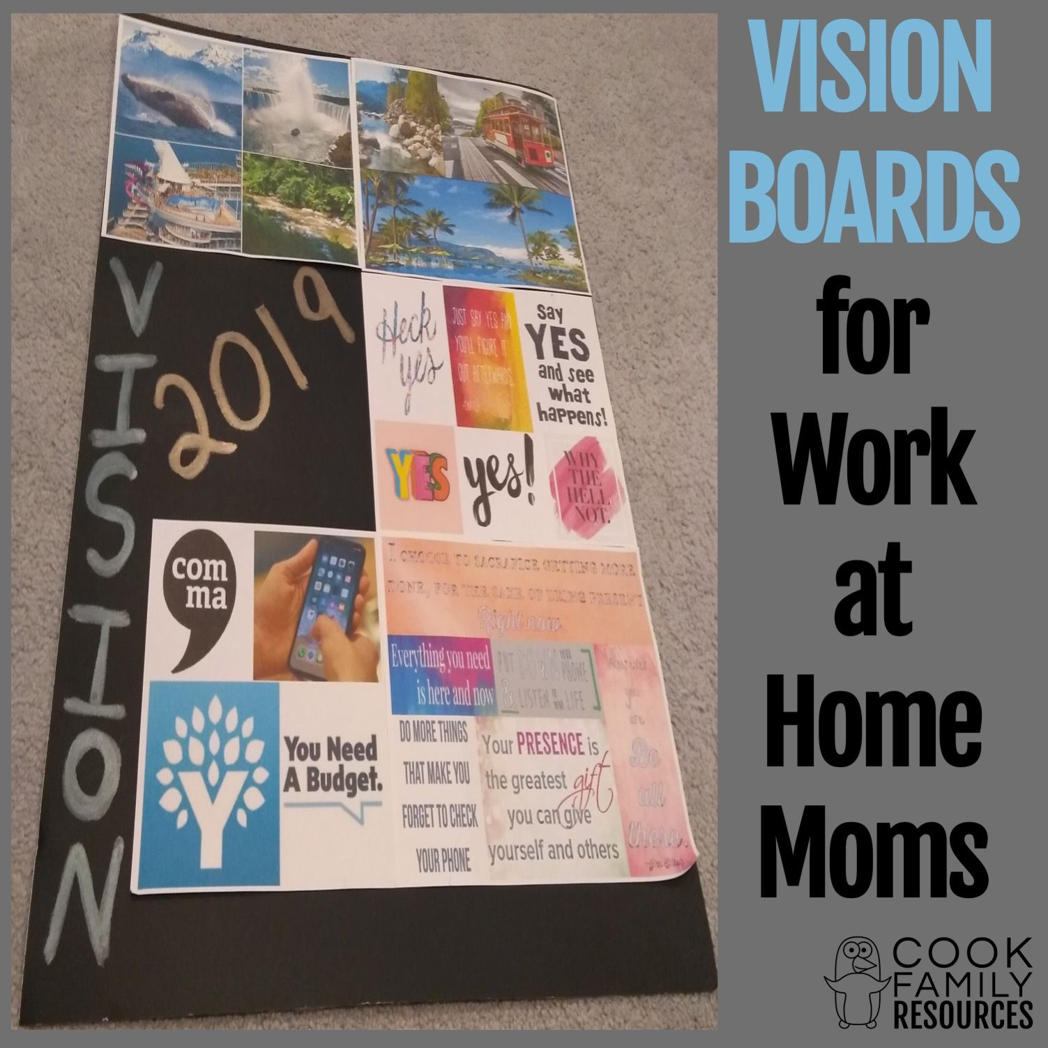 Vision Boards for Work At Home Moms Work from home moms