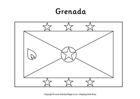Grenada Flag Colouring Page Flag Coloring Pages Grenada Flag Coloring Pages