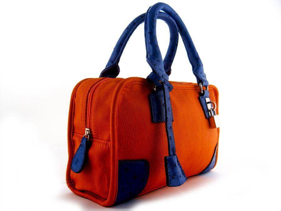Bolso asas azul naranja