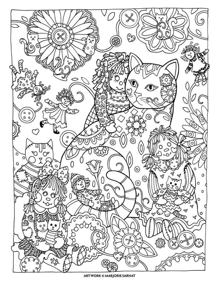Perfecto Hoja Para Colorear Gatito Composición - Dibujos Para ...