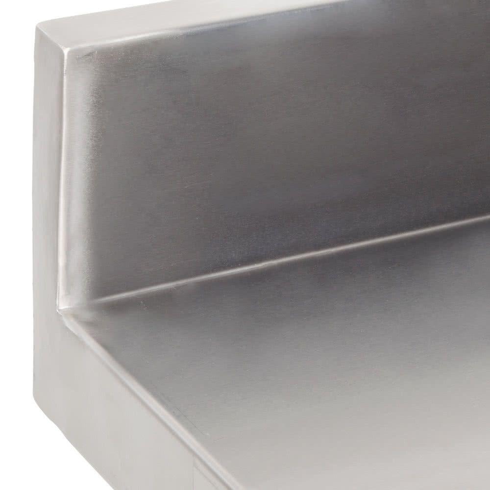 Regency 30 X 18 18 Gauge 304 Stainless Steel Equipment Filler Table With Backsplash And Galvanized Undershelf Stainless Countertops Backsplash Stainless
