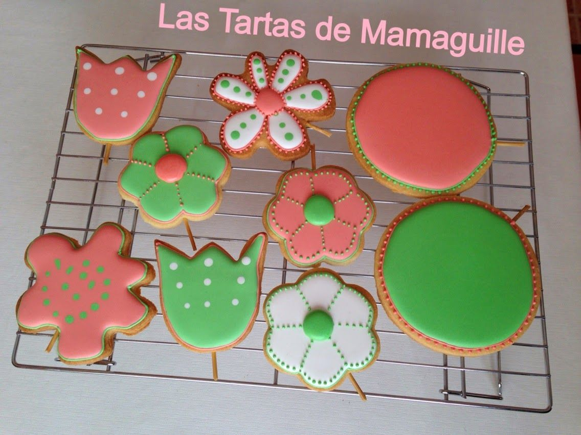 Las tartas de Mamaguille: Galletas decoradas Flores