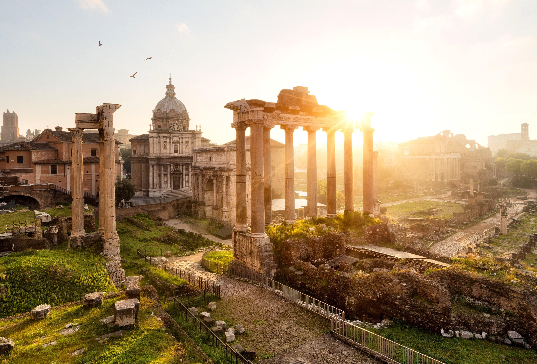 Wallpaper Forum Romanum Rome Italy Templum Saturni Weltreise Beruhmte Platze Rom Italien