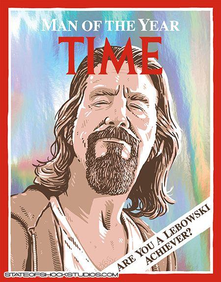 Darin Shock Dude Of The Year Big Lebowski Affoildables Print The Big Lebowski Culture Art Movie Poster Art