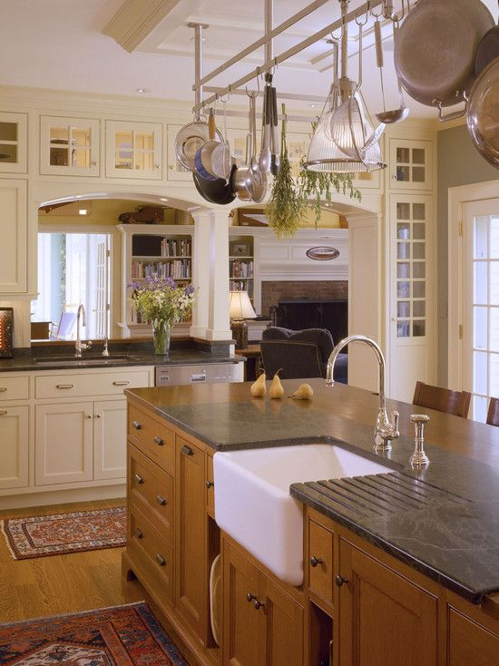 I like the softness and warmth of this kitchen