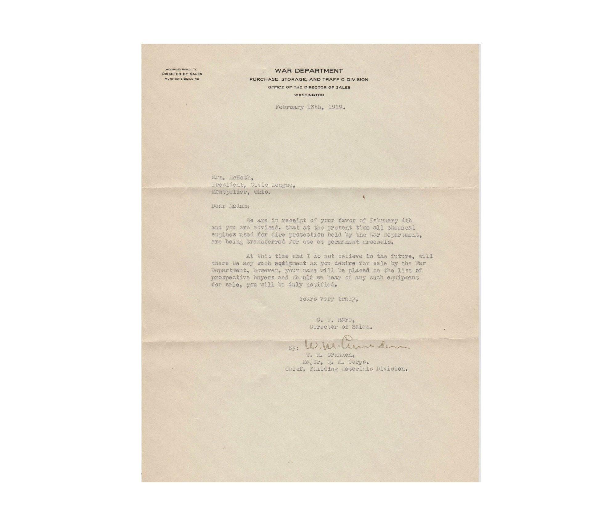 Antique War Department Official Letter Post Wwi Office Of The Etsy Official Letter Sales Letter Lettering