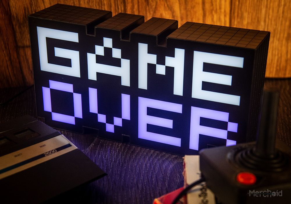 Game Over Light Preorder - Merchoid | Gamer gifts, Games, Mood lights