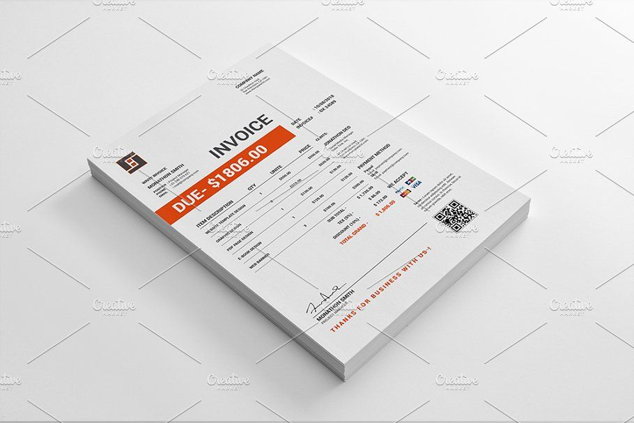 Invoice Simple Brochure Template Stationery Templates Invoice Template