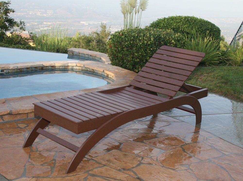 Brown Wooden Chaise Lounge Chair Chaise lounges, Wood furniture