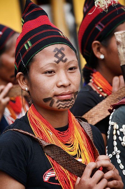 India | Young woman from the Chang naga tribe  Nagaland
