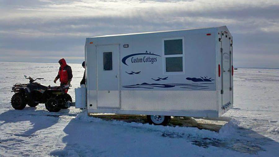 Custom Cottages Inc Mobile Shelter Design For Ice Fishing Hunting Camping Shelter Design Ice Fishing Shelter Ice Fishing Shack