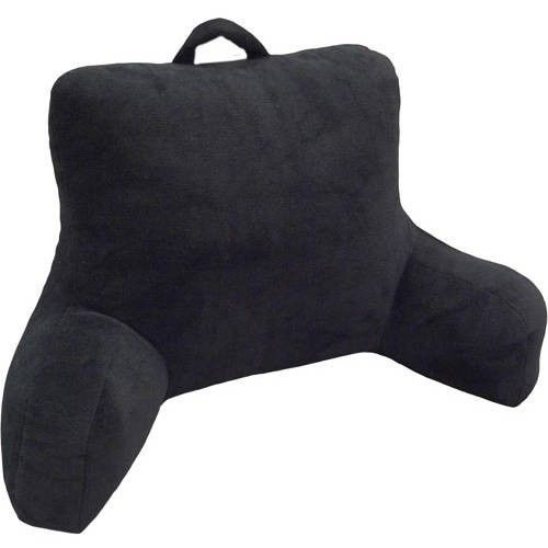 Bed Pillow For Reading Bedrest Micro Plush Sitting Up With Arms Back