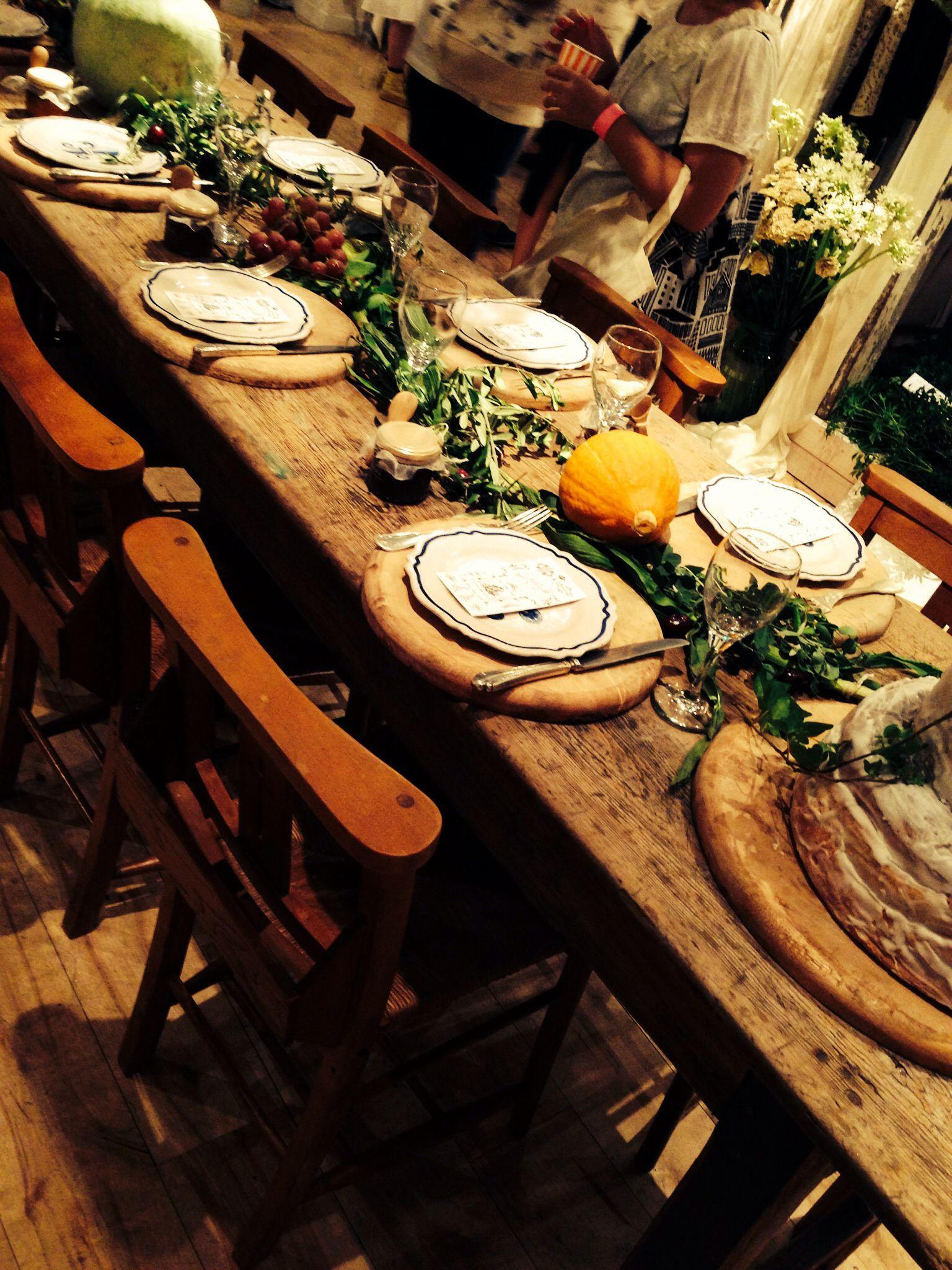 Botanical table decor