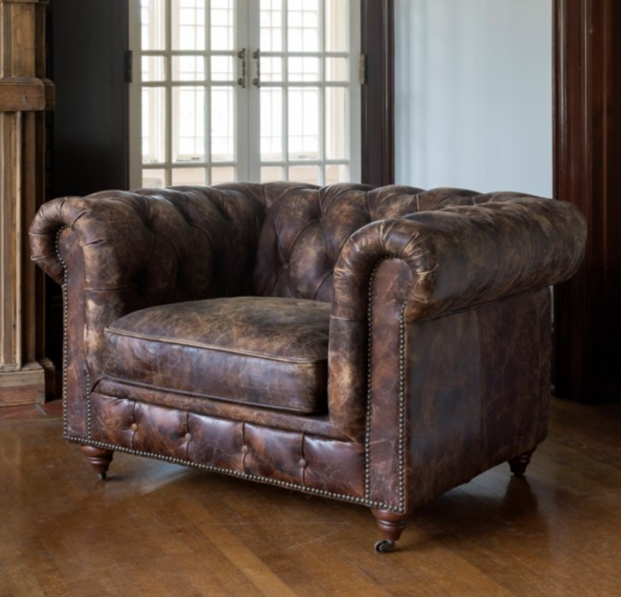 Pleasing Distressed Leather Ranchers Club Chair Products In 2019 Gmtry Best Dining Table And Chair Ideas Images Gmtryco