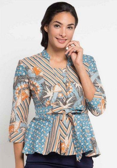 Model Baju Batik Wanita Atasan Terbaru - Desain Model Baju ...