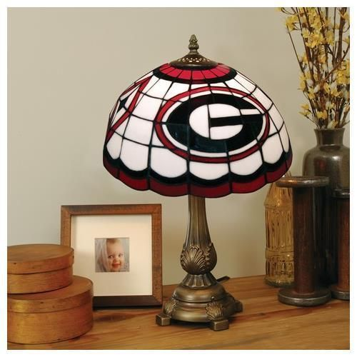 Georgia Bulldogs UGA Stained Glass Table Top Lamp | Products ...
